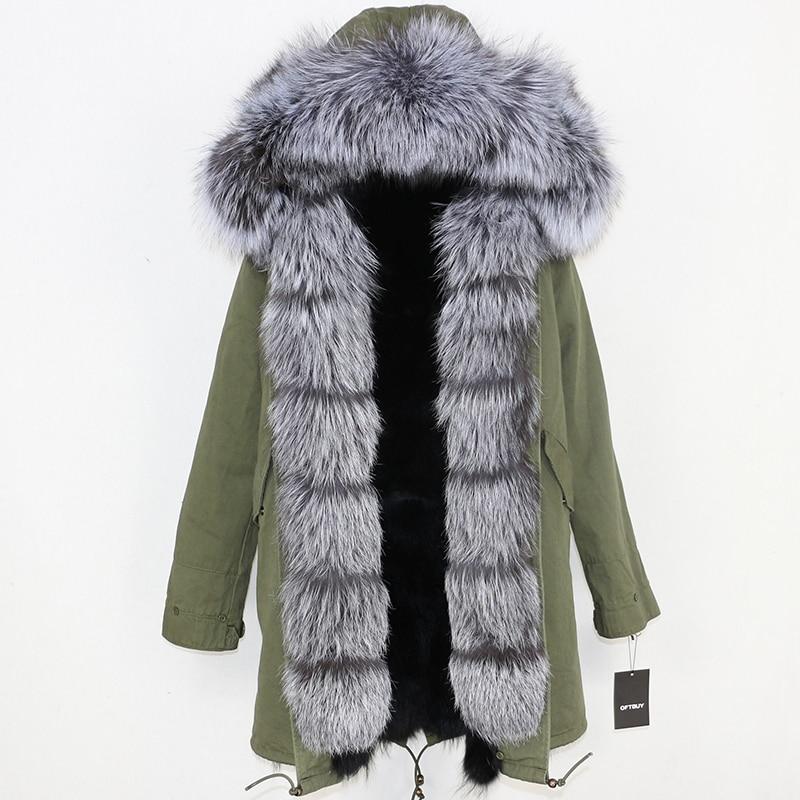 OFTBUY 2019 Winter Jacket Women Long Parka Real Fox Fur Coat Natural Raccoon Fur Collar Hood Thick Warm Streetwear Parkas New 73