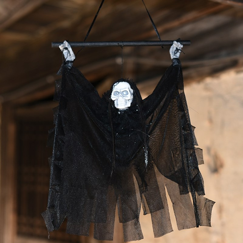 55cm halloween induction props hanging ghost witch scary horror haunted house bar halloween party events decoration - Witch Decorations