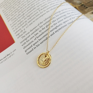 Image 5 - LouLeur 925 sterling silver Eternal love gold pendant necklace seas run dry rocks crumble creative neckalce for women jewelry