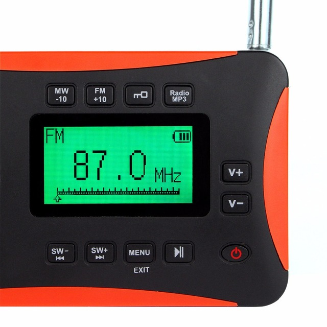 5pcs TIVDIO V-116 Radio FM MW SW World Receiver MP3 Player with Sleep Timer Alarm Clock Portable Recorder F9206A