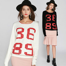 Pullover Feminino 2018 European And American Pop Star Sweater Long Style  Women s 4397f03e930b