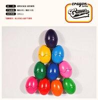 창조적 인 6 색/세트 크레용 다채로운 왁스 크레용 만화 계란 모양 낙서 펜 그림 선물 그리