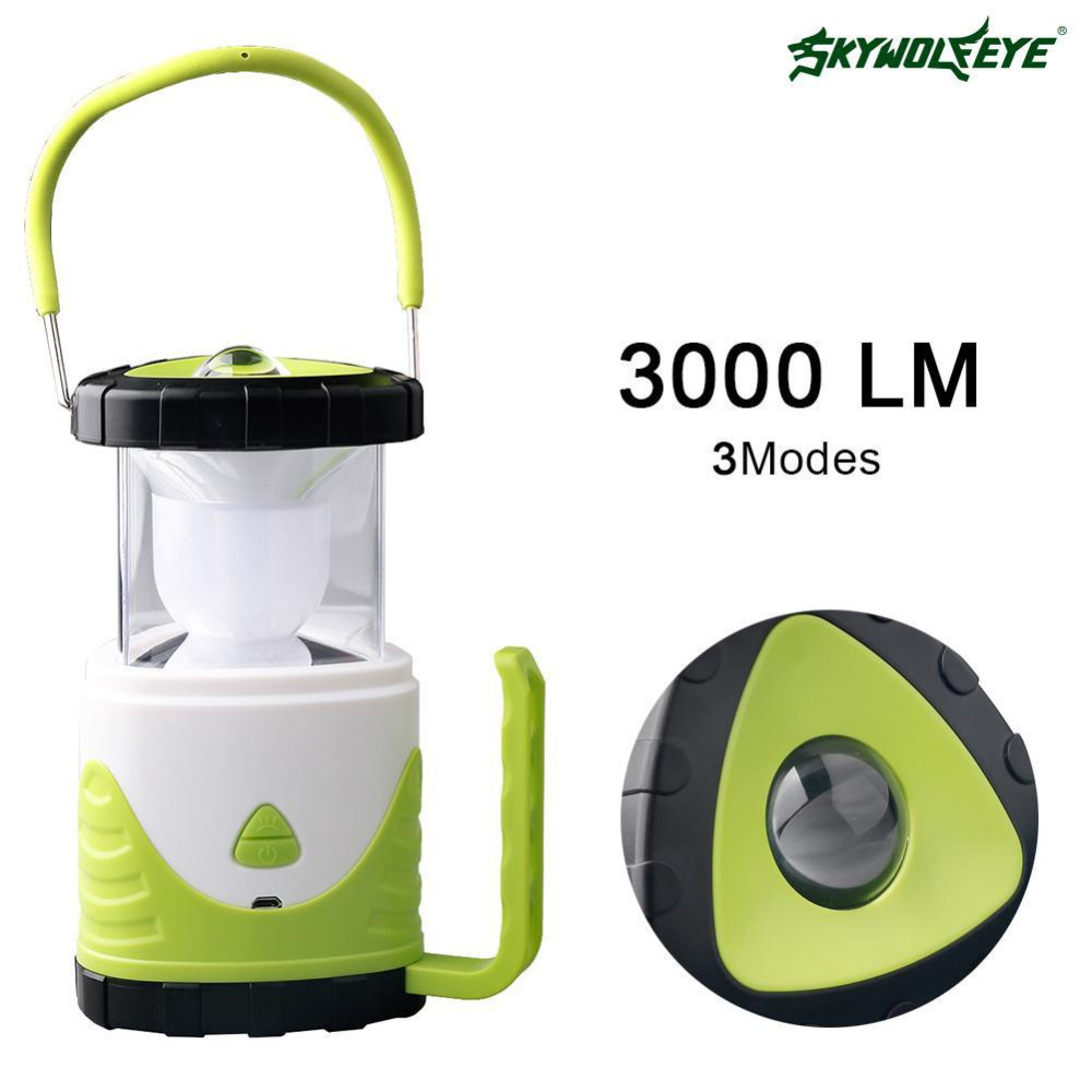 New 3 in 1 Bright Lightweight 10 LED Camping Lantern Outdoor Portable Colorful Lights Water Resistant Tent Night Lamp Green A391