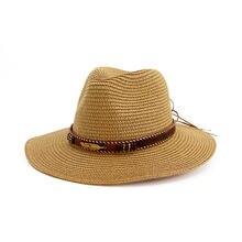 Летняя ковбойская шляпа для мужчин и женщин соломенная от солнца