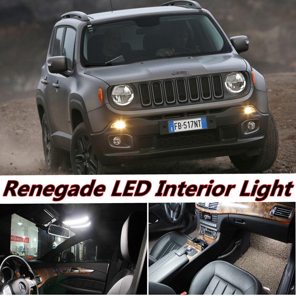 tcart 6 pcs auto led ampoule erreur livraison blanc voiture intrieur led lumire kit t10 camion dme lampe pour jeep renegade accessoires 2015 2016
