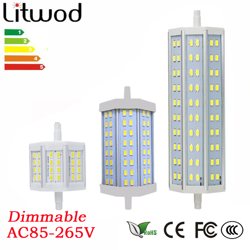 Litwod z20 r7s led dimmable 7w 15w 20w smd5730 led r7s for Led r7s 78mm 20w