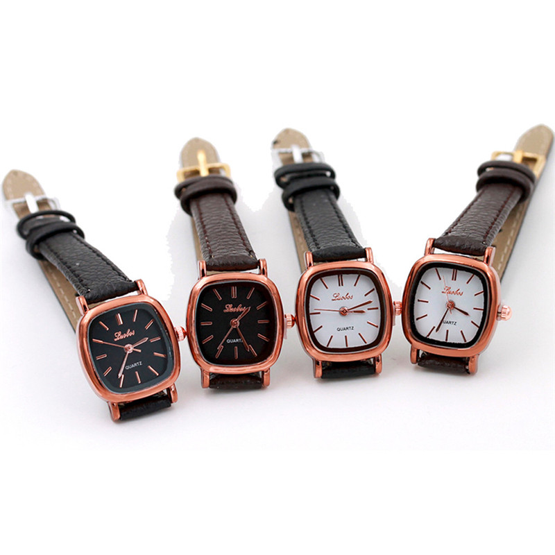 2018 new hot amazing wonderful popular practical Fashion Women Leather B Analog Quartz Movement Wrist Watch P*21