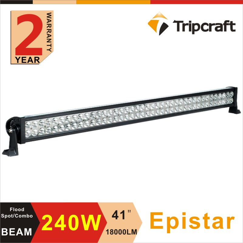 High Power 42 Inch 240W LED Light Bar for Work Driving Boat Car Truck 4x4 SUV ATV Off Road Fog Lamp Spot Wide Flood Beam 1320lm 6 x 3w high power car offroad led work light bar flood spot beam rectangle waterproof driving fog lamp truck