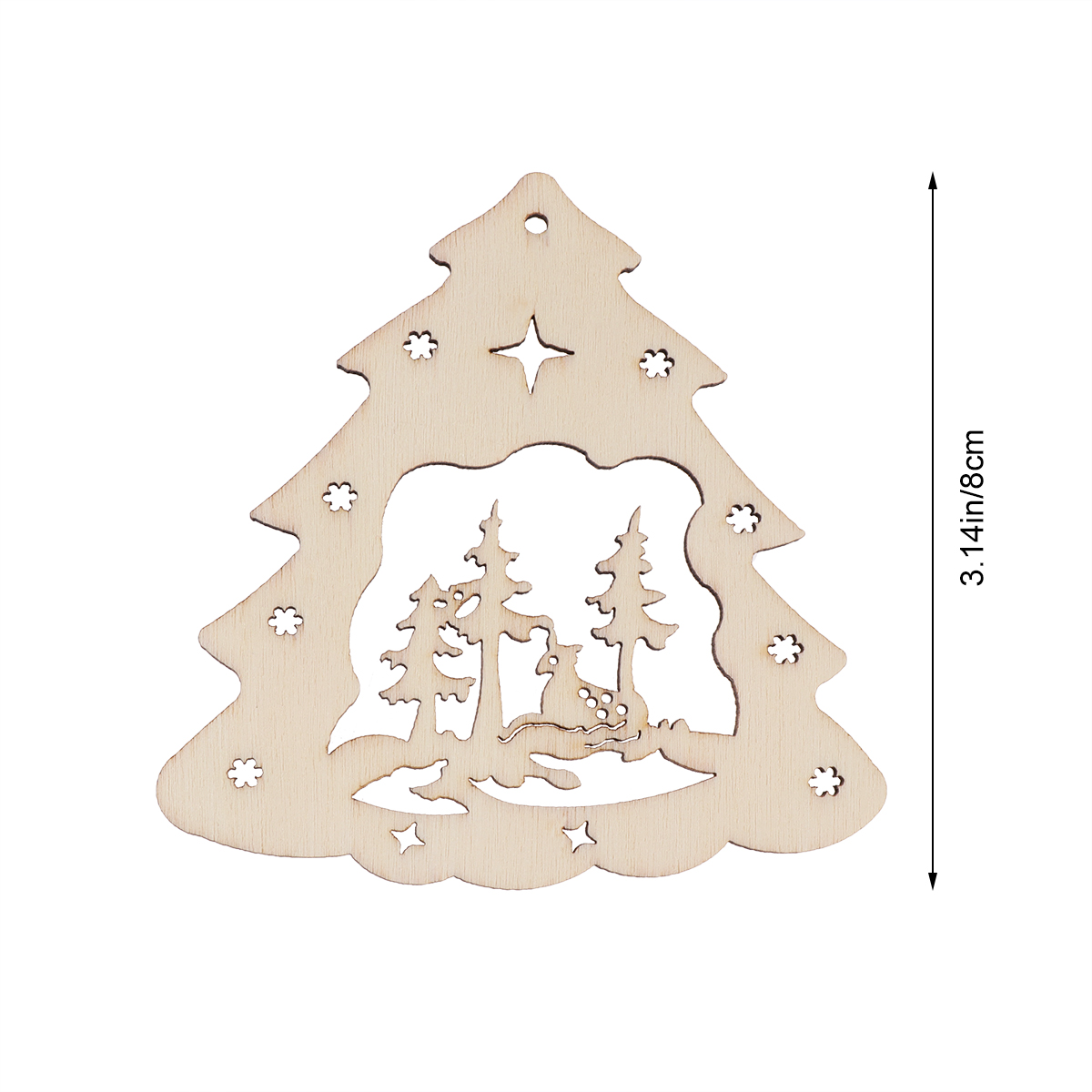 Us 1 83 29 Off 10pcs Christmas Tree Wooden Discs Diy Craft Decor Wood Cutout Slices Ornaments Christmas Tree Pendants Tags In Wood Diy Crafts From
