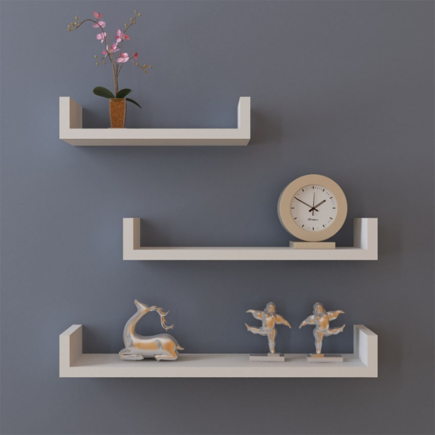 Homdox MDF Wall Hanging Shelf Books Clocks Neat Rack Home Living Room Wall  Shelves Decorative Wall Shelf #30 20 Em Prateleiras E Cabides De Home U0026  Garden No ... Part 92