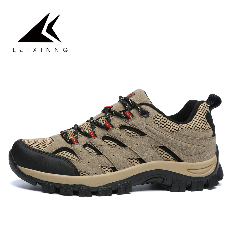 Trekking Sneakers Hiking-Shoes Mountains Outdoor Jogging Men Lace-Up Classic-Style Large-Size