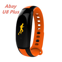 Abay U8 PLUS Smart Bluetooth Bracelet Watch Fitness Belt Heart Rate Pulse Blood Pressure Tracker Watch Pedometer IOS and Android