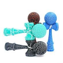 Горячие деревянные спортивные игрушки Kendama, уличные игрушки, шарики, два цвета, трещины из бука, для детей и взрослых, спортивные мячи, здоровые, для активного отдыха