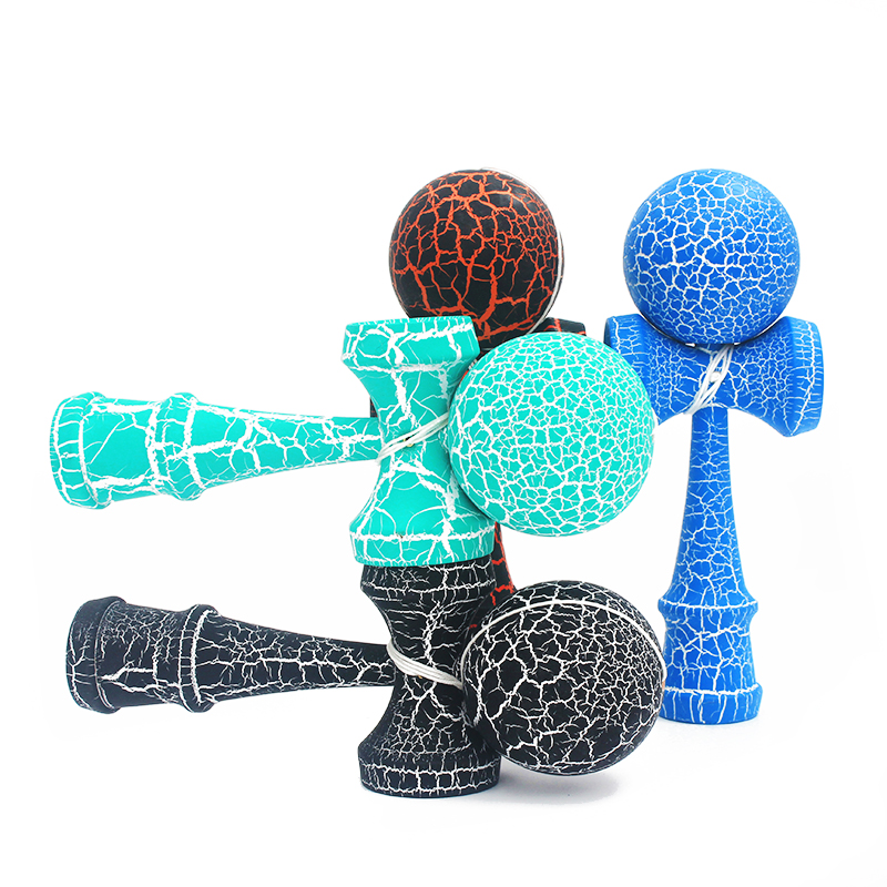 Hottest Wooden Sport Toys Kendama Outdoor Toy Balls Two Colors Crack Beech Wood Kids & Adult Sport Ball Healthy Outdoor Exercise