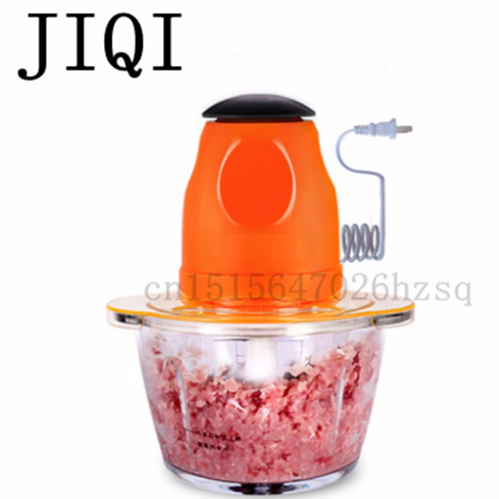 JIQI Meat grinder Mini household electric chopper Vegetable stirring Mincer multifunction mixer Whisk Baby food maker 4 blades portable blender mini mixer automatic self stirring mug