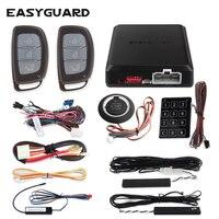 EASYGUARD компания прыжковой код ПКЕ автосигнализации комплект с Автозапуск дистанционного запуск двигателя и keyless go touch в