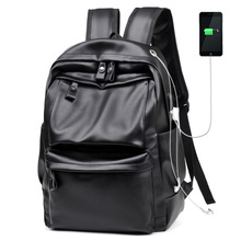 Male Fashion Laptop Anti Theft Leather Travel Backpack Men Usb Headset Mochila Hombre Masculina Book Bag School Bags Tas Bagpack цена