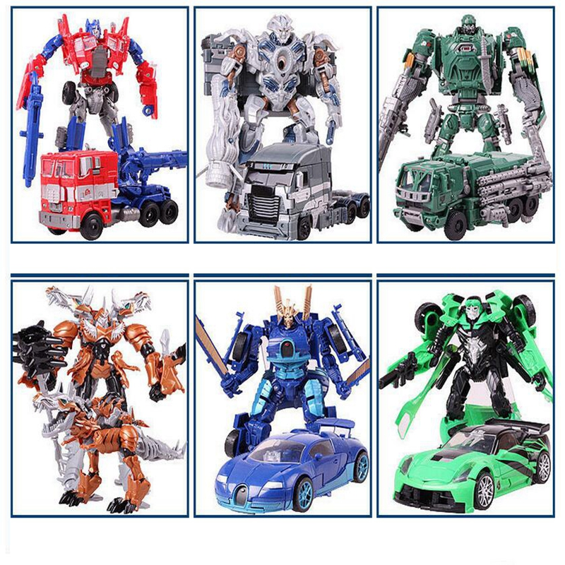 New Alloy transformation 4 Toys Robot Car Anime Action Figure Brinquedos Kids Toys Juguetes Gifts new children assembled tire track parking lot toy model anime action figure juguetes kids toys 2 alloy car christmas gifts