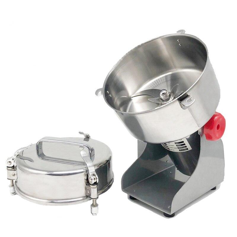 Molinillo de alimentos de gran valor fresadora de acero inoxidable máquina de molienda de polvo pequeño molino de harina eléctrica comercial para el hogar D273 - 4