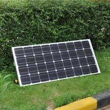 Panneaux Solaire 12v 100W Monocrystalline Solar Battery Charger Solar Kit Bracket Solar Home System Motorhome Caravan Car LED