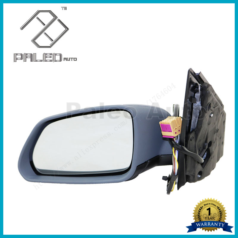 ФОТО For VW POLO 9N3 2005 2006 2007 2008 2009 2010 Left Hand Driver Left Electrically Adjustable And Heated Exterior Mirror 7 Lines