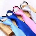 Accesorios de vestir de color sólido de la cremallera de poliéster lazo de Los Hombres de negocios atmósfera cremallera corbata Simple y conveniente