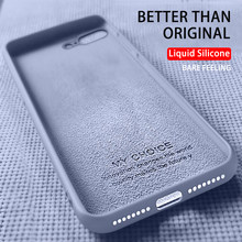 Originele Siliconen Vloeibare Telefoon Case Voor Iphone 6 6S 7 8 Plus 5 5S Se Soft Cover Voor iphone X Xr 11 Pro Xs Max Meisje Mannen I7 Case(China)