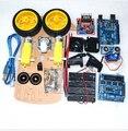 Новый смарт двигателя , чтобы избежать слежения робот комплект энкодера скорость шасси аккумуляторной аккумулятор 2WD модуль ультразвук для Arduino комплект умный car Kit
