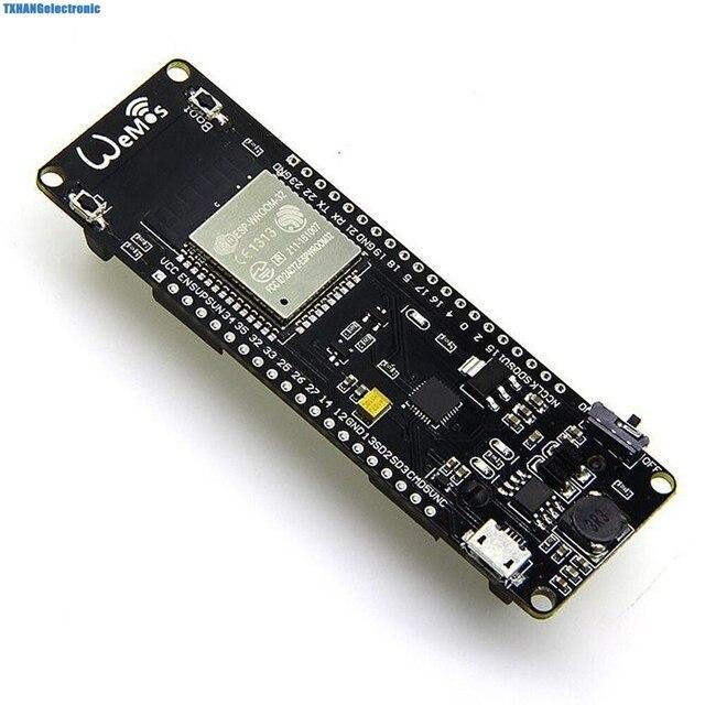 WEMOS WiFi & Bluetooth Batterie ESP32 développement outil ESP32 batterie esp8266 ESP WROOM 32 ESP32