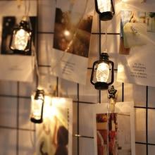 Ins Vintage retro lámpara de aceite de agua Led guirnalda al aire libre guirnalda de luces de hadas para Navidad Ramadán decoración para fiesta de boda