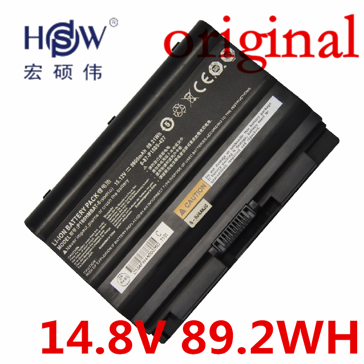 HSW 14.8V 89.2WH  Battery F0r CLEVO Terrans Force earth P180S 6-87-P180S-427,P180HMBAT-3,P180HMBAT-8 bateria akku b p r d hell on earth volume 8 lake of fire