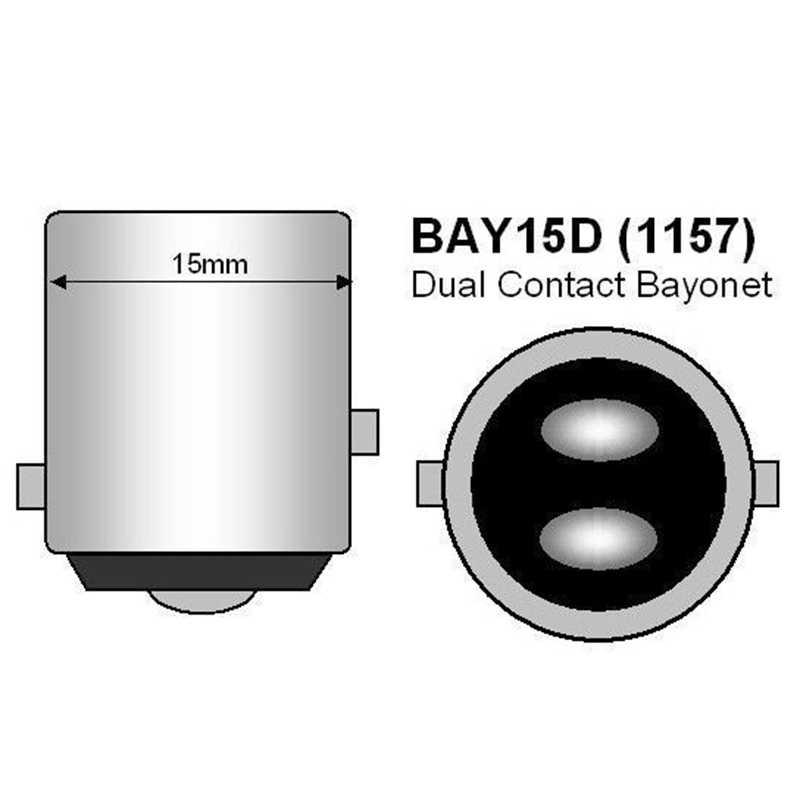 1157 P21/5 W BAY15D 22 SMD LED רכב להפסיק אור זנב צד מחוון הנורה 22smd אוטומטי חניה מנורה בשעתי יום אור לבן 12V