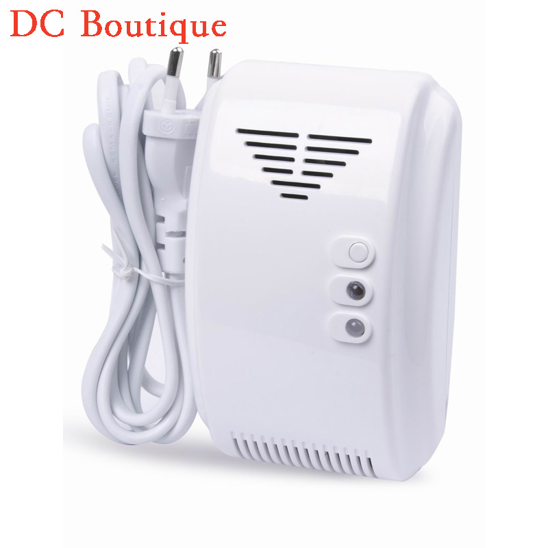 (10 PCS)Europe Adapter 433MHz Wireless coal Gas sensor Natural gas leak alarm detector Home security Fire control free shipping