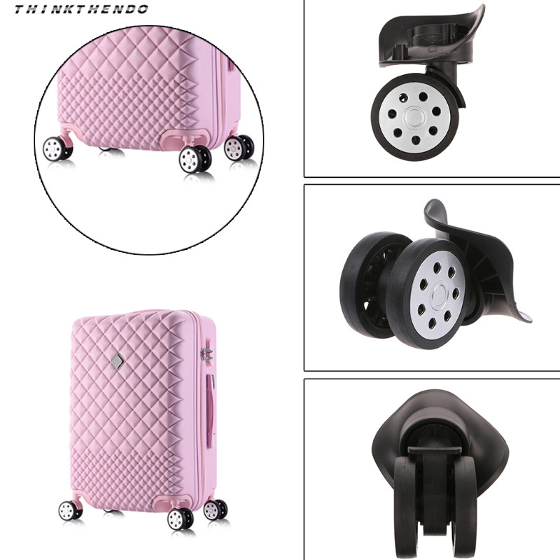 THINKTHENDO Fashion New4 Pcs Unisex Luggage 360 Swivel Left Right Wheel Replacement Suitcase Caster Repair Accessory Waterproof