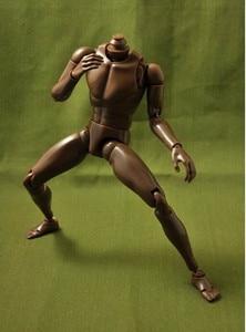 """Image 3 - חדש 1/6 זכר צר כתף עירום גוף דמות שחור Ver. B003 12 """"פעולה איור בובת צעצועי חייל דגם"""