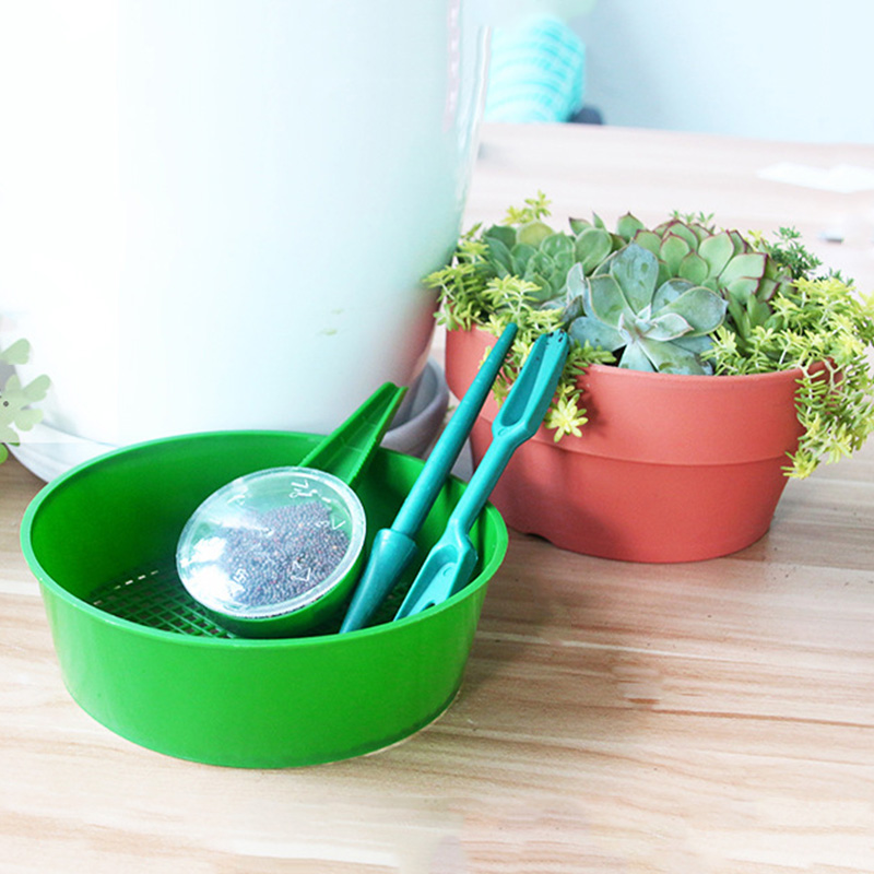 Garden Plastic Sifting Pan Seedling Seeder Tool Soil Seed Sower Dig Transplanting  Plant Migration Nursery Plant Cultivate Tools