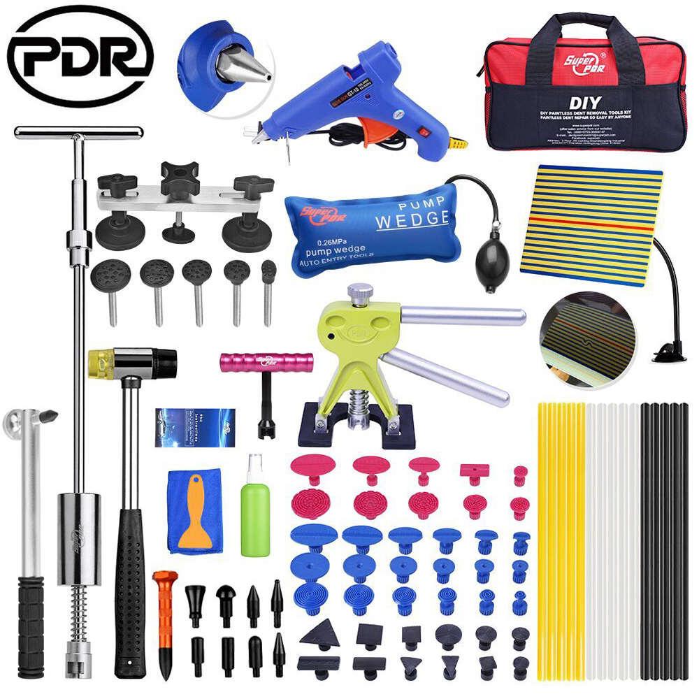 Herramientas PDR removedor de abolladuras herramientas de eliminación de abolladuras juego de herramientas de reparación de coches Reflector tirador de abolladura ventosas lengüetas de pegamento