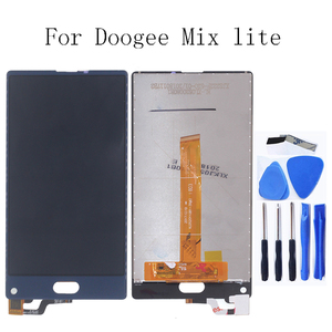 Image 1 - 100% test için Doogee MIX Lite LCD monitörler için Doogee MIX Lite LCD ekranlar ve digitizer telefonu aksesuarları