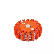 PANYUE 16 LED Emergency Flashing Light for Road Accident Warning Flares with Magnetic Base 9 Mode use 2* AA Battery