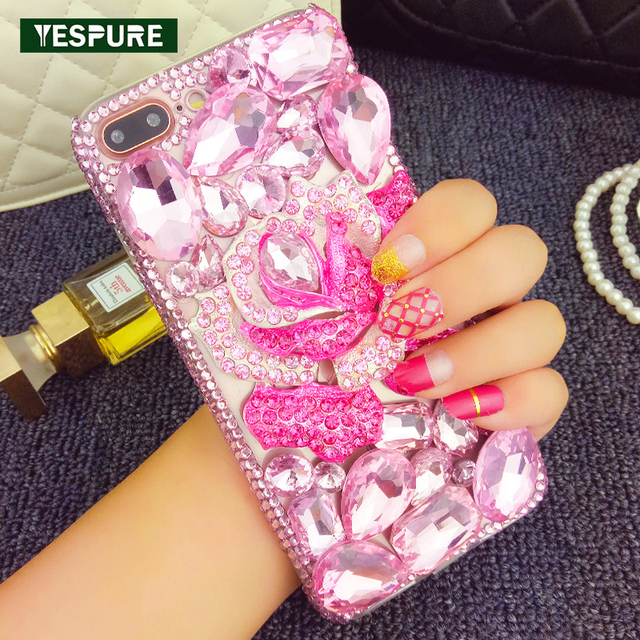 brand new 276b5 03927 US $16.98 |YESPURE Luxury Fancy Cell Phone Cases for IPhone 6 6s Rinestone  Women Case Covers Fashion Shinning Phone Case for Girls-in Rhinestone Cases  ...