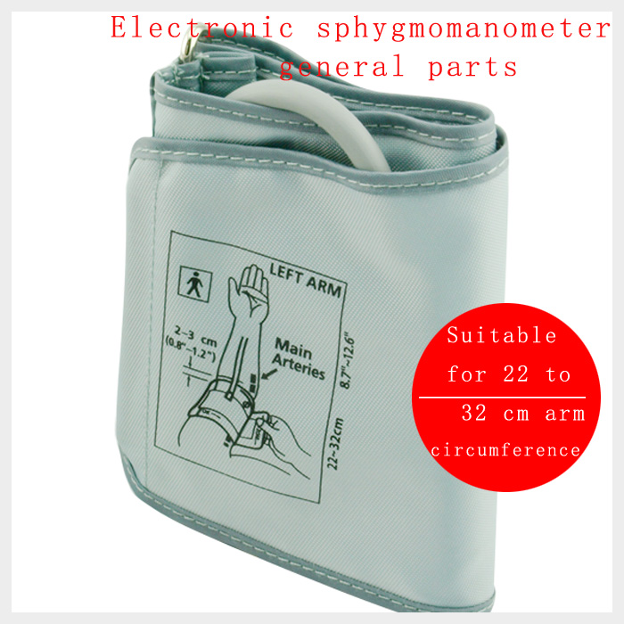 Portable Digital Blood Pressure Monitor Arm Cuff  Single Tube Tonometer Cuff Sphygmomanometer BP Meter 22CM-32CM CUFF Accessorie