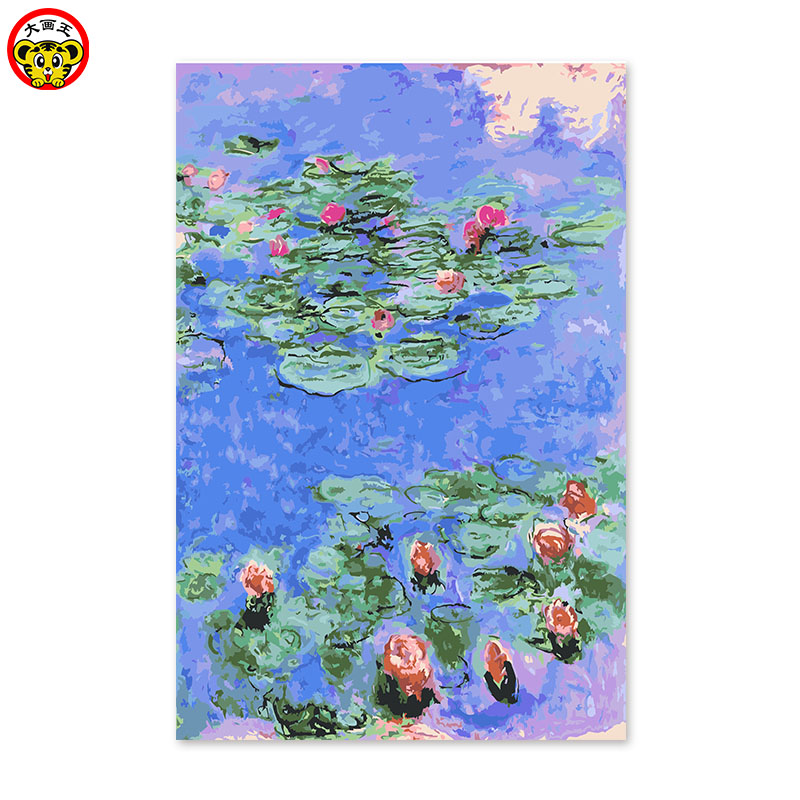 painting by numbers art paint by number Diy digital oil drawing hand painted picture Wall Decor pictures Monet water lily digit