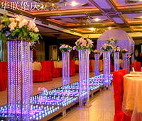Free Shipping 85cm(H) wedding stand luxury crystal wedding road lead wedding centerpiece event party decoration/ 10pcs/lot
