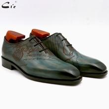 Cie kare düz ayak bütün kesim patina tavuskuşu tam tahıl hakiki buzağı deri oxford erkek ayakkabı ısmarlama deri erkek ayakkabısı ox15
