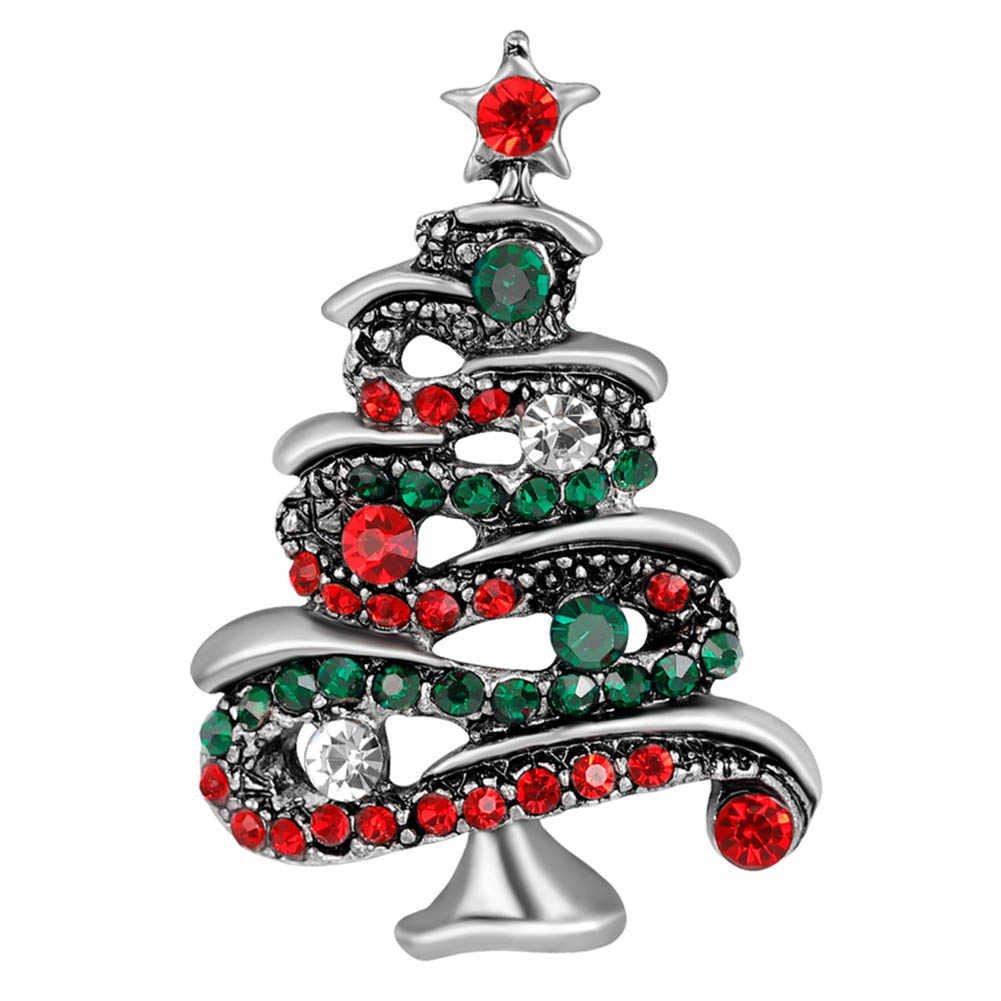 Yeni Yıl Hediye Noel Serisi Noel Ağacı Çok tarzı Broş Korsaj Botları Kardan Adam Geyik Rhinestone Broş Takı