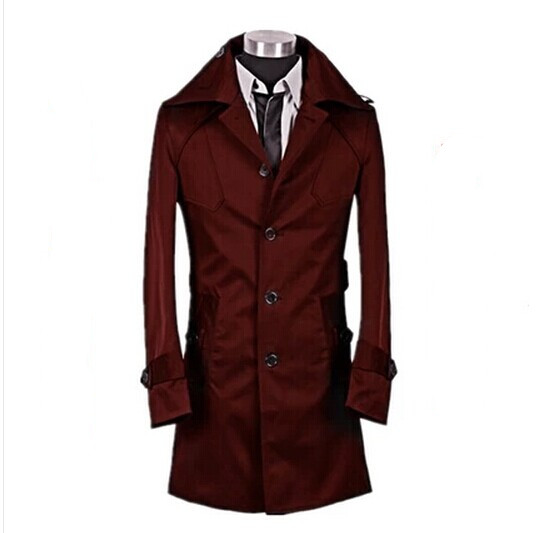 Popular Mens Red Trench Coat-Buy Cheap Mens Red Trench Coat lots ...