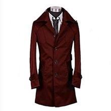 Longue Rouge Tranchée Manteau Hommes Achetez des lots à