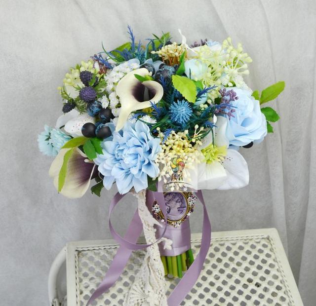 Vintage Hochzeit Blumen Brautstrauss Handmade Braut Bouquet