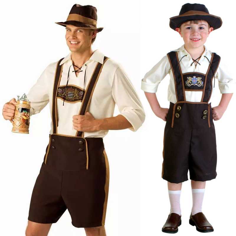 plus xl xxl men bartender uniform german oktoberfest beer