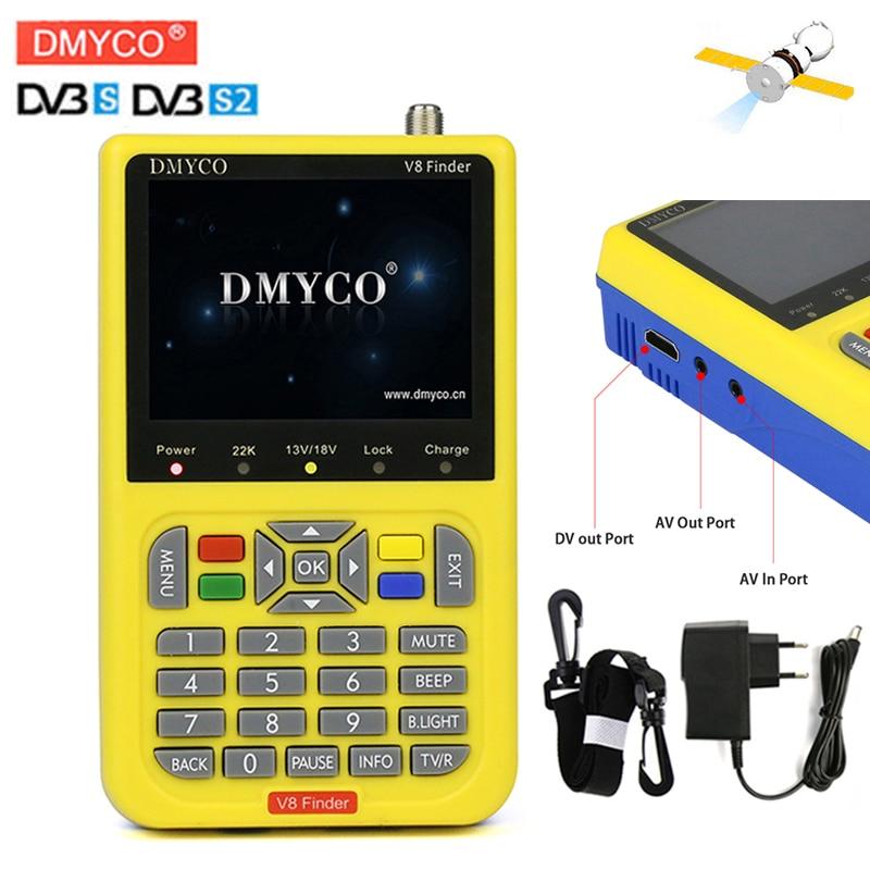 [Genuine]satellite finder dmyco SatFinder meter DVB-S/S2 with 3.5 inch LCD digital satfinder meter DMYCO V8 Finder